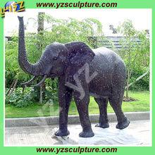 Garden animal antique brass elephant BAS-G020