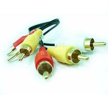 3RCA Plug/3 plug RCA cable mono rca