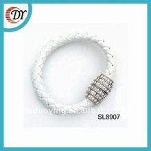 2012 fashion magnetic leather bracelet handmade SL8907