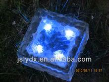 LED solar ice glass brick light solar garden light
