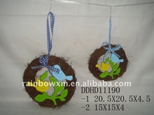 Bird rattan hanging decor