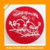 Customized red felt coaster for wedding decoration with name or logo printed