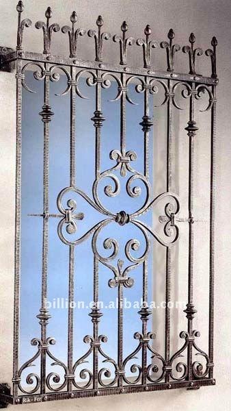 Metal de hierro forjado rejas-Ventanas-Identificación del producto ...