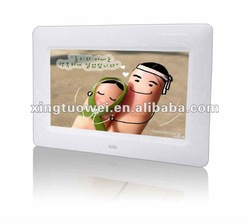 7inch good quality digital photo frame with multifunction(include remote control model X-071E)