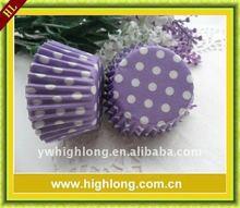 Purple design paper cake cup,paper cupcake