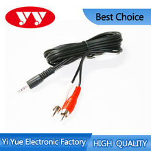 Audio cable 3.5mm headphone to 2rca av audio cable