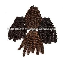 Best cabello Rihana models style of new fashion design human hair fumi curly Cambodian hair
