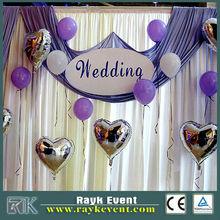 Made in China wedding pipe and drape, side drape wedding dress