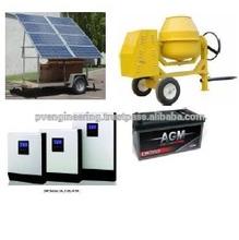 Solar Concrete Mixer