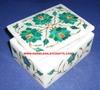Malachite White Marble Box