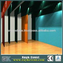 Best quality portable dance floor black and white, stage floor pvc dance floor