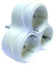"3-way adaptor plug ""Papatya"""