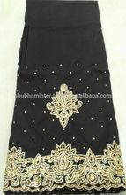 Modern Design Brown silk George Fabrics For African Lady