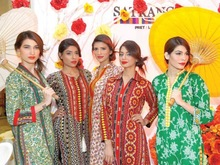 Satrangi Lawn Suits , Satrangi By Bonanza , Bonanza Branded Ladies wear , Satrangi cotton suits , Pakistani Ladies cotton suits
