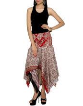 Hot Selling Women Cotton Midi Skirt, Art Silk Indian Skirts, Indian Style Skirts