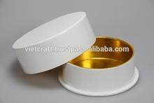 qualità alta lacca monili rotondo scatole con il colore oro nuovo design 2015