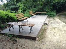 1.2M PS plastic wood outdoor garden bench