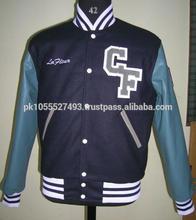 Varsity Jacket Mens Leather Winter Baseball From Wholesale Clothing Factory