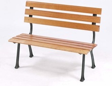 PS plastic wood garden bench and chair 1.2m