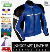 men stylish colorful motorcycle leather jacket/beautiful style motorbike leather jacket/mans motorcycle fashion leather jacket