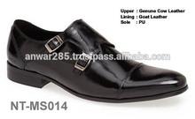 Italian Design Double Monk Men Leather Shoes