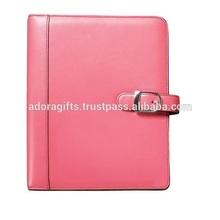 Hot Selling Leather Agenda Planner / Popular Agenda Planner Notebook / Newest Pink Leather Planner Cover