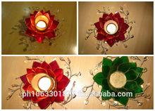 Capiz Candle Holder - Crystal design