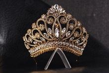 princess tiara crown , tiaras for wedding , crystal gold tiara hand made for order inlaid with brown Crystals