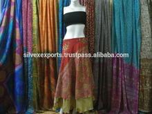 latest launch wrap vintage silk sari skirt
