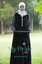 HOT! Simple design MyPride sporty winter abaya with high quality fabric muslim abaya for Middle East Dubai Malaysia