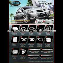 KOSHI ABS Chrome exterior accessories for Toyota VIOS 2003-12