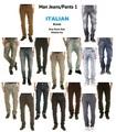 Italiano jeans homem/calças, stock# 1, f./inverno,'einstein'