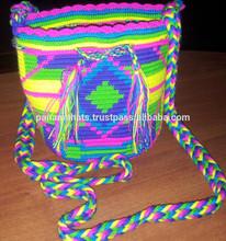 Wayuu Mochila Multicolor design. Mini Mochila. Double thread.in Stock