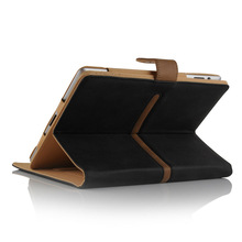 Brown Tan Suede Leather Wallet Flip Case Cover for The ipad Air Full Sleep Wake Function ! Plus Screen Protector and stylu