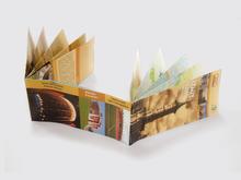 custom folding restaurant promotional flyer leaflet poster world map printing
