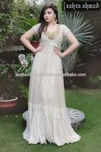 long dress in white colour.