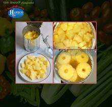 Abacaxi em conserva em calda luz estanho 20 oz / 30 oz / A10