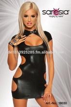 Sexy Wetlook Gogo Minidress with Cutouts - Saresia (R)