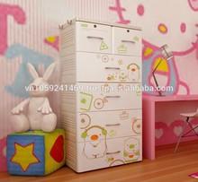 Viet Nam 5 Layers plastic wardrobe cabinet