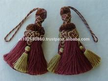 Key Tassels ~ Tiebacks Sewing Trim Tiebacks Fancy Large Tassel Key Beautiful Key Tassels - Home Decor Drapery
