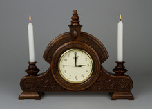 Elegant wooden clock