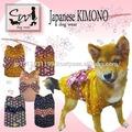 certificadas iso roupas pet kimono para cães com a tradicional têxteis japoneses