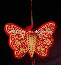 Kashmir Paper Mache - Party/Festival/Special Occasion/Christmas Special - Decorative Hanging Butterflies (Set of 3 Pieces)