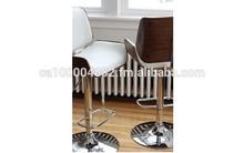 Casseredo Bar stool, bar Chair in leather,Bentwood Bar chair, walnut bar chair
