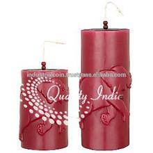 colore marrone pilastro style elefante scolpito candele