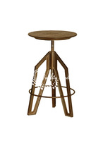 Copper Color Metallic Rotating Stool