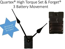High Torque Auto Set Clock Movement 3 Batteries, Running Time To 5 Years