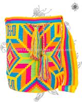 Genuine Wayuu Vibrant Mochila Bag by Jardin del Cielo (Thin Belt)