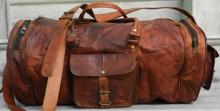leather vintage luggage bag