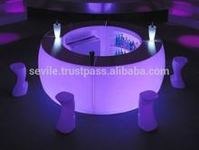 Svetleci Bar Pult za strezbo pijac z LED lucmi